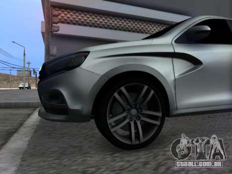 Lada Vesta HD (beta) para GTA San Andreas vista interior