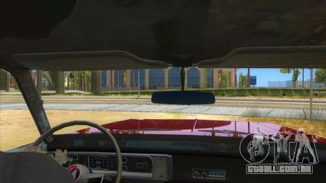1965 Plymouth Belvedere 2-door Sedan para GTA San Andreas vista interior