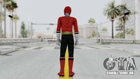 Power Rangers Samurai - Red para GTA San Andreas terceira tela