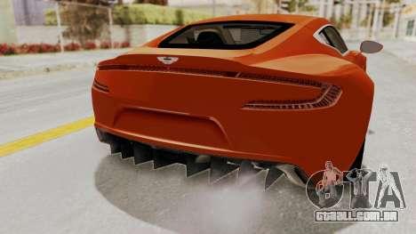 Aston Martin One-77 2010 Autovista Interior para GTA San Andreas vista traseira