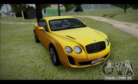 Bentley Continental para GTA San Andreas