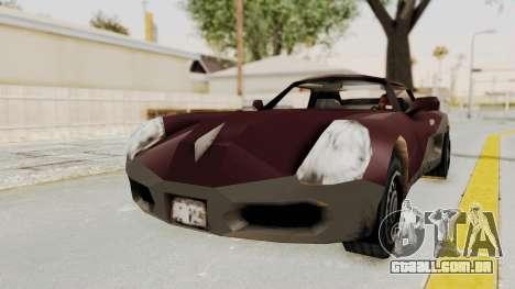 GTA 3 Yakuza Stinger para GTA San Andreas traseira esquerda vista
