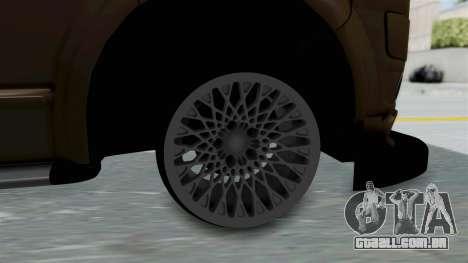 Volkswagen Transporter TDI Final para GTA San Andreas traseira esquerda vista