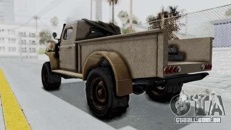 GTA 5 Bravado Duneloader Cleaner Worn para GTA San Andreas esquerda vista