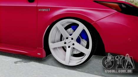 Toyota Prius 2011 Elegant Modification para GTA San Andreas vista traseira
