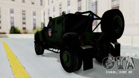 Croatian Oshkosh M-ATV Woodland para GTA San Andreas esquerda vista