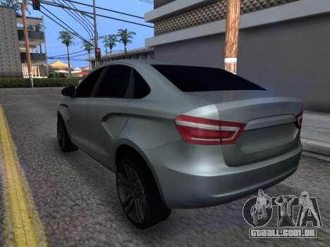 Lada Vesta HD (beta) para GTA San Andreas traseira esquerda vista