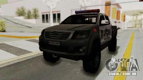 Toyota Hilux 4WD 2015 Georgia Police para GTA San Andreas