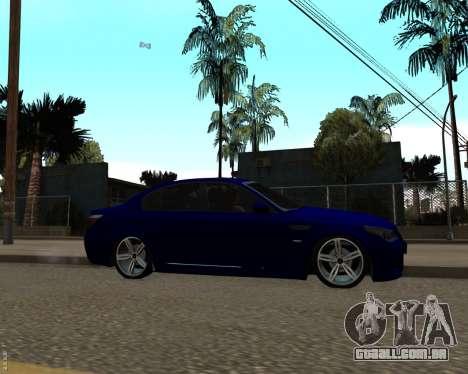 BMW M5 E60 v1.0 para GTA San Andreas esquerda vista