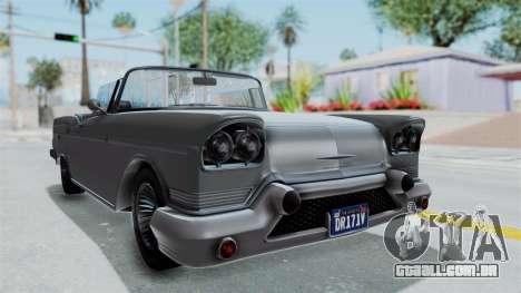 GTA 5 Declasse Tornado No Bobbles and Plaque IVF para GTA San Andreas