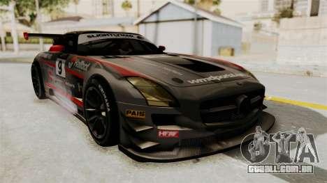 Mercedes-Benz SLS AMG GT3 PJ2 para GTA San Andreas vista superior