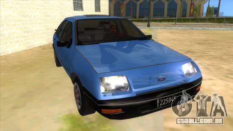 Ford Sierra 1.6 GL Updated para GTA San Andreas vista traseira