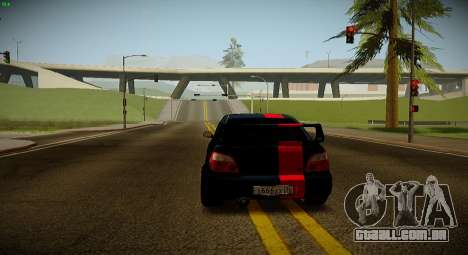 Subaru Impreza WRX STi Besta Negra para GTA San Andreas vista direita