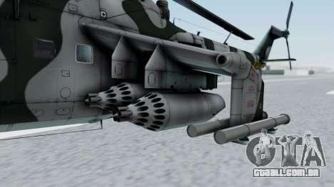 Mi-24V GDR Air Force 45 para GTA San Andreas vista traseira