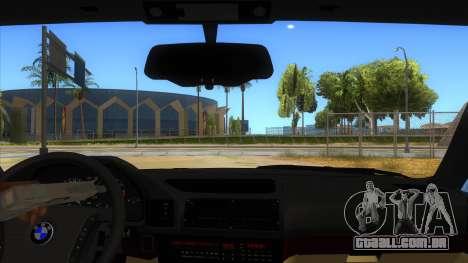 BMW M5 E34 Touring para GTA San Andreas vista interior