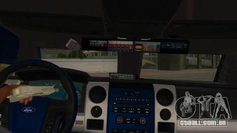 Black Scorpion Police para GTA San Andreas vista interior