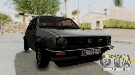 Volkswagen Golf Mk1 GTI para GTA San Andreas vista direita