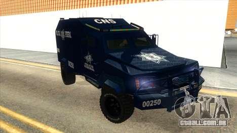 Black Scorpion Police para GTA San Andreas vista traseira