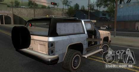 Derby Rancher para GTA San Andreas esquerda vista