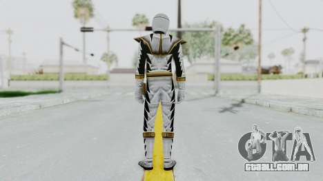 Power Rangers Dino Thunder - White para GTA San Andreas terceira tela
