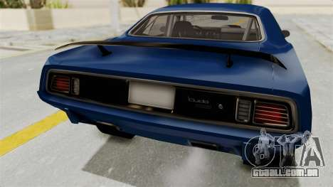 Plymouth Hemi Cuda 1971 Drag para GTA San Andreas vista interior