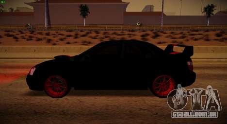 Subaru Impreza WRX STi Besta Negra para GTA San Andreas esquerda vista