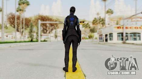 Mass Effect 3 Liara DLC Alt Costume para GTA San Andreas terceira tela