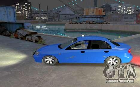Daewoo Lanos Taxi para GTA 4 esquerda vista