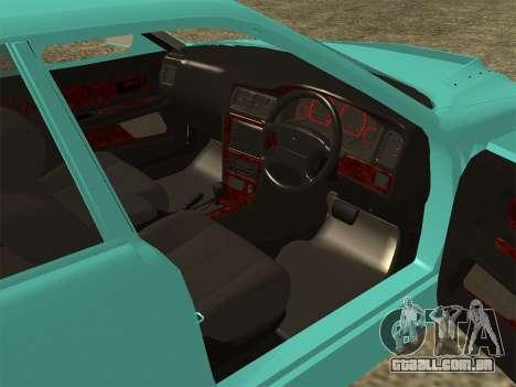 Toyota Chaser JZX100 para GTA San Andreas traseira esquerda vista