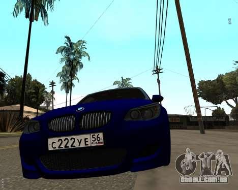 BMW M5 E60 v1.0 para GTA San Andreas traseira esquerda vista