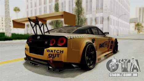 Nissan GT-R Fake Taxi para GTA San Andreas vista direita