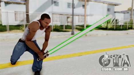 Star Wars LightSaber Green para GTA San Andreas
