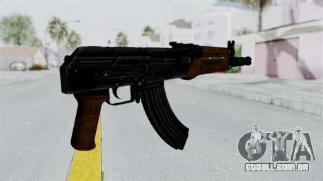 AK-47U para GTA San Andreas terceira tela