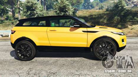 GTA 5 Range Rover Evoque vista lateral esquerda