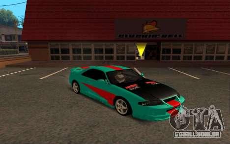 Nissan Skyline R33 Tunable para GTA San Andreas traseira esquerda vista
