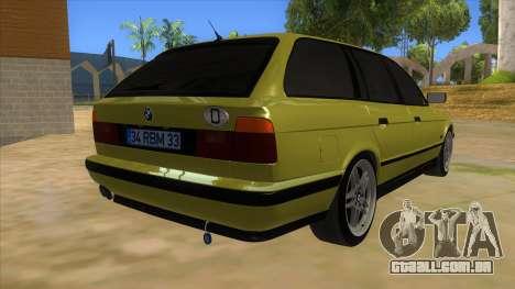 BMW M5 E34 Touring para GTA San Andreas vista direita