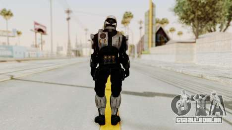 Mass Effect 3 Shepard Ajax Armor with Helmet para GTA San Andreas terceira tela
