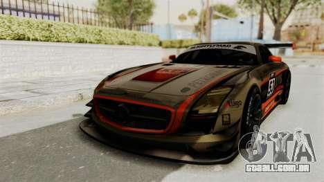 Mercedes-Benz SLS AMG GT3 PJ4 para GTA San Andreas vista inferior