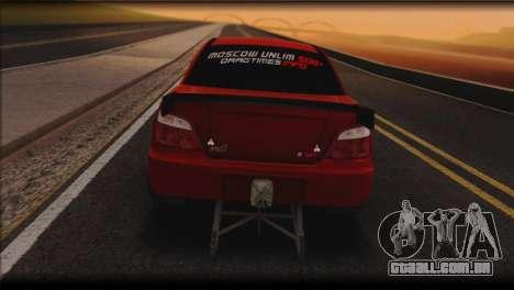 Subaru Impreza STi Drag Racing Unlim 500 para GTA San Andreas traseira esquerda vista