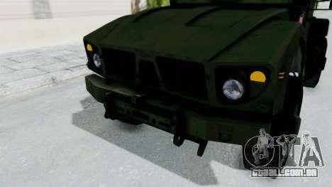 Croatian Oshkosh M-ATV Woodland para GTA San Andreas vista inferior