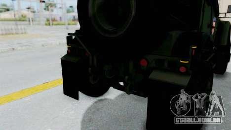 Croatian Oshkosh M-ATV Woodland para o motor de GTA San Andreas