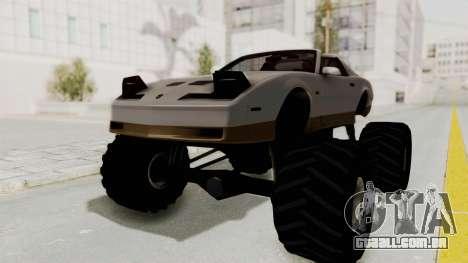 Pontiac Firebird Trans Am Monster Truck 1982 para GTA San Andreas traseira esquerda vista