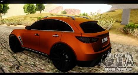 Infiniti FX37 para GTA San Andreas esquerda vista