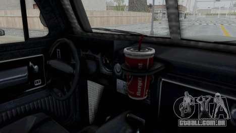 GTA 5 Bravado Duneloader Cleaner IVF para GTA San Andreas vista interior