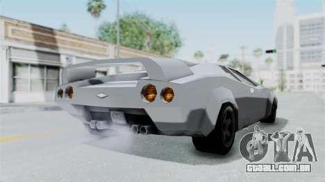 GTA Vice City - Infernus para GTA San Andreas traseira esquerda vista