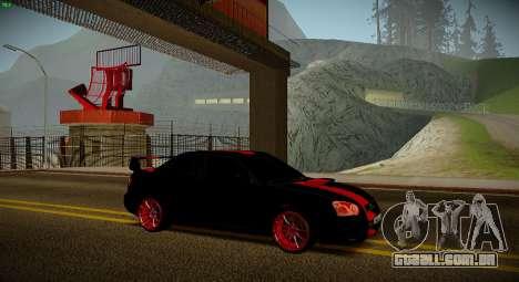 Subaru Impreza WRX STi Besta Negra para GTA San Andreas traseira esquerda vista