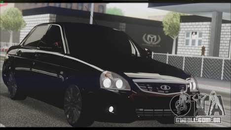 Lada Priora Sedan para vista lateral GTA San Andreas