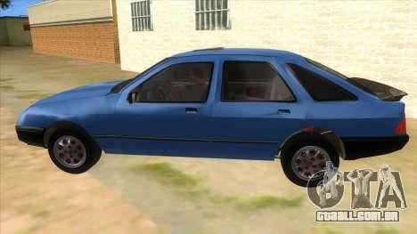 Ford Sierra 1.6 GL Updated para GTA San Andreas esquerda vista