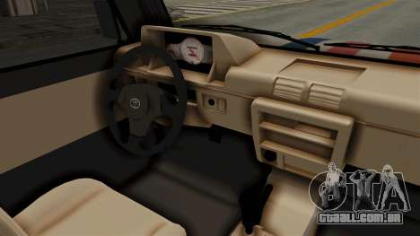 Toyota Kijang Miku Itasha Version para GTA San Andreas vista interior