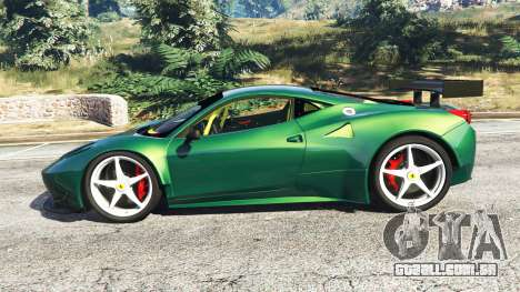 GTA 5 Ferrari 458 Italia GT2 vista lateral esquerda